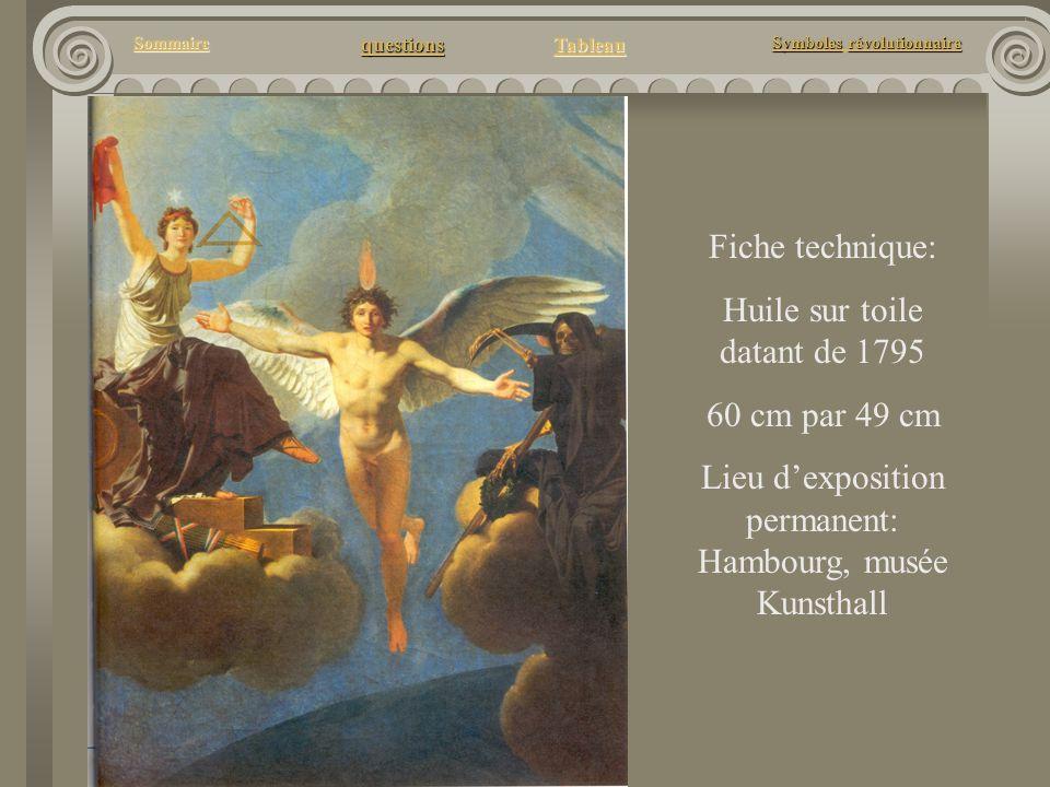 questions Tableau Sommaire Symbolesrévolutionnaire Symboles révolutionnaire Fiche technique: Huile sur toile datant de 1795 60 cm par 49 cm Lieu dexpo