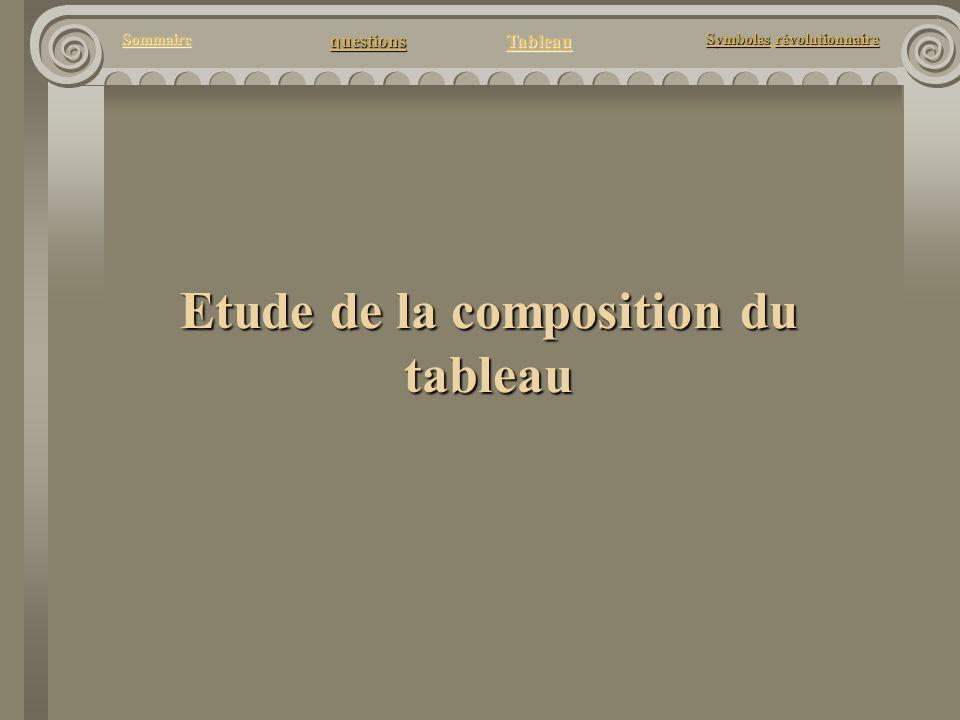 questions Tableau Sommaire Symbolesrévolutionnaire Symboles révolutionnaire Etude de la composition du tableau