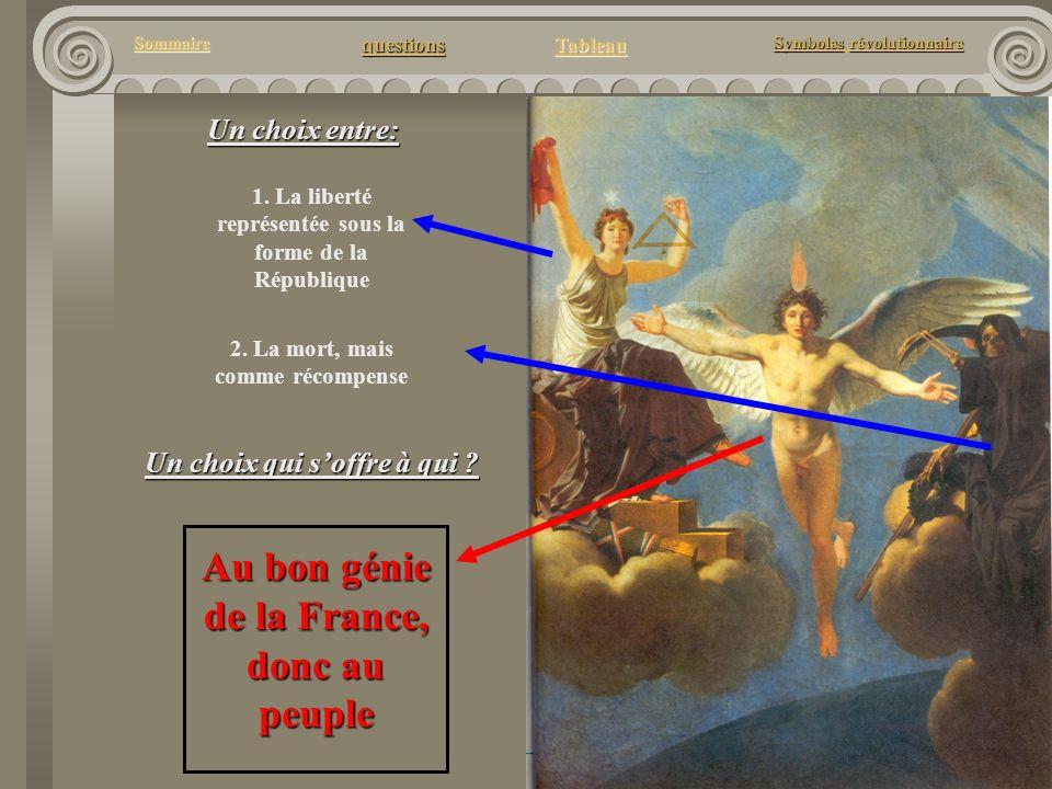 questions Tableau Sommaire Symbolesrévolutionnaire Symboles révolutionnaire Un choix entre: 1. La liberté représentée sous la forme de la République 2