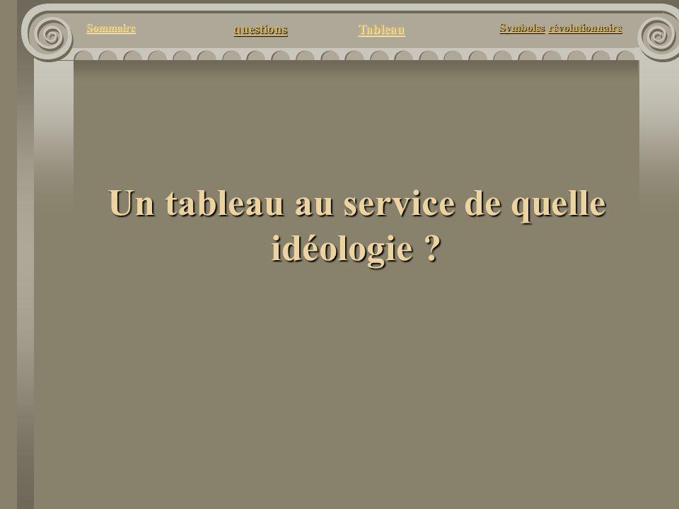 questions Tableau Sommaire Symbolesrévolutionnaire Symboles révolutionnaire Un tableau au service de quelle idéologie ?