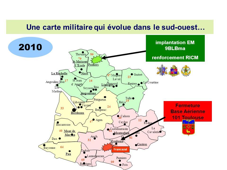Foix Barrèges 79 17 16 33 24 47 40 32 64 65 31 09 82 81 12 46 19 87 23 86 Poitiers St Maixent l Ecole Angoulème Brie Guéret La Courtine Tulle Brive Mo