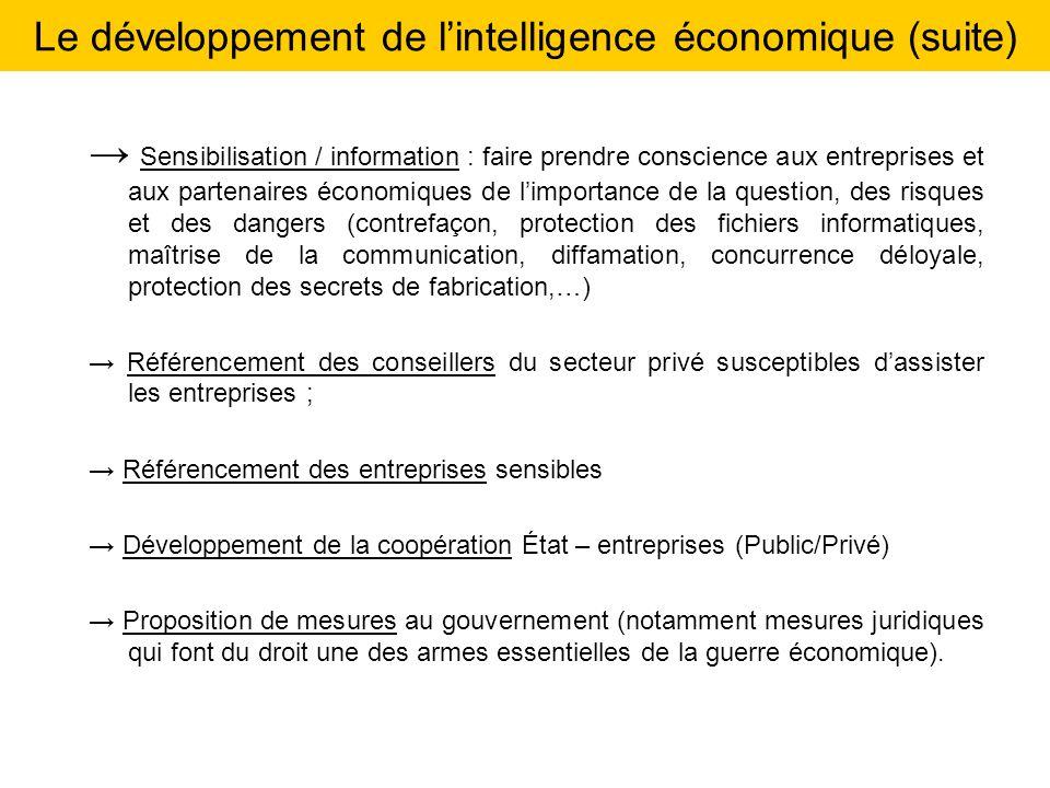 Sensibilisation / information : faire prendre conscience aux entreprises et aux partenaires économiques de limportance de la question, des risques et