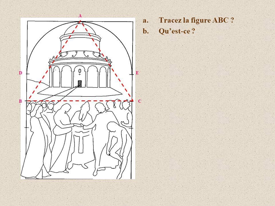 a.Tracez la figure ABC ? b.Quest-ce ? D B E C A