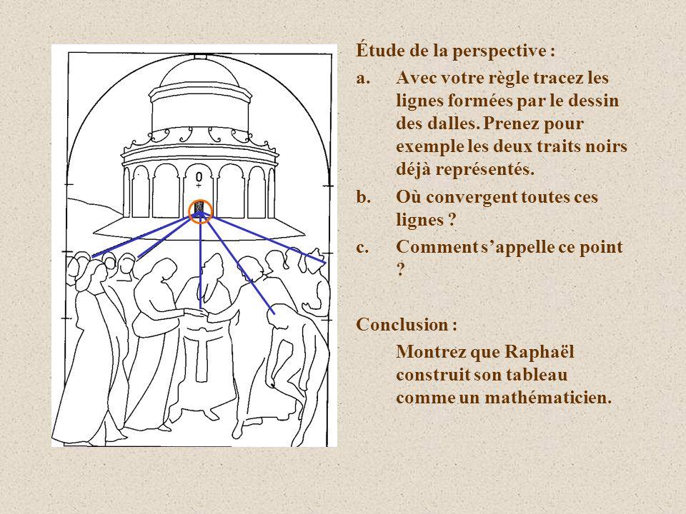 Étude de la perspective : a.Avec votre règle tracez les lignes formées par le dessin des dalles. Prenez pour exemple les deux traits noirs déjà représ