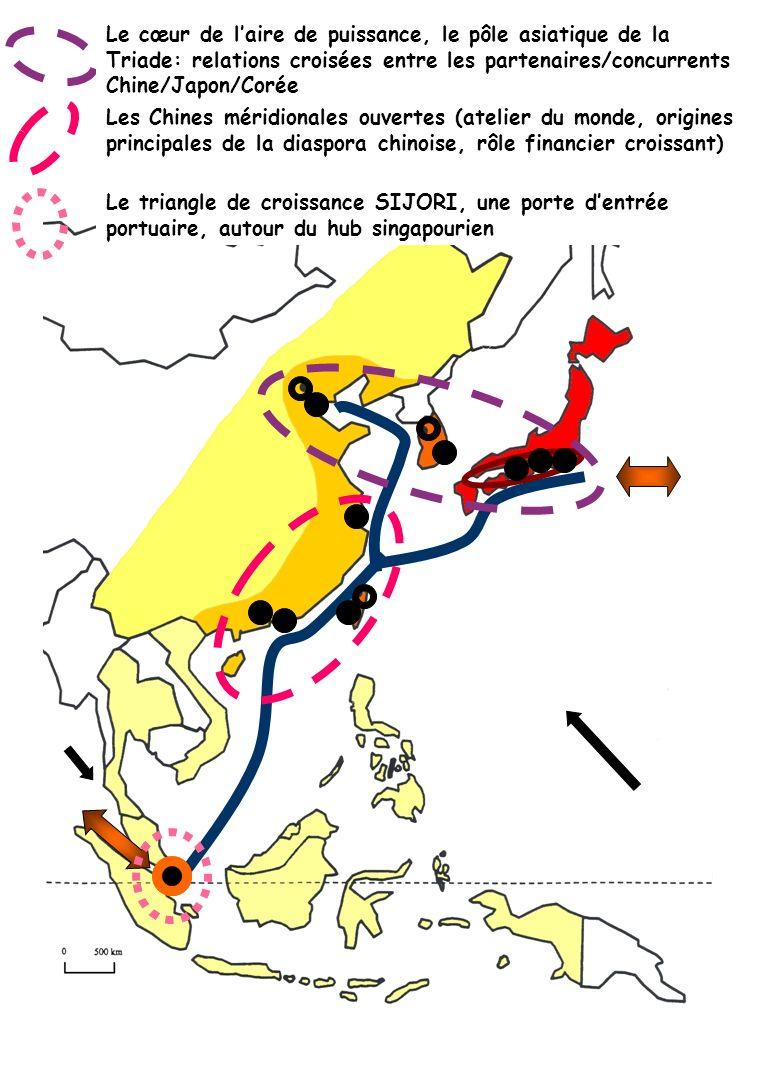 Le cœur de laire de puissance, le pôle asiatique de la Triade: relations croisées entre les partenaires/concurrents Chine/Japon/Corée Les Chines mérid