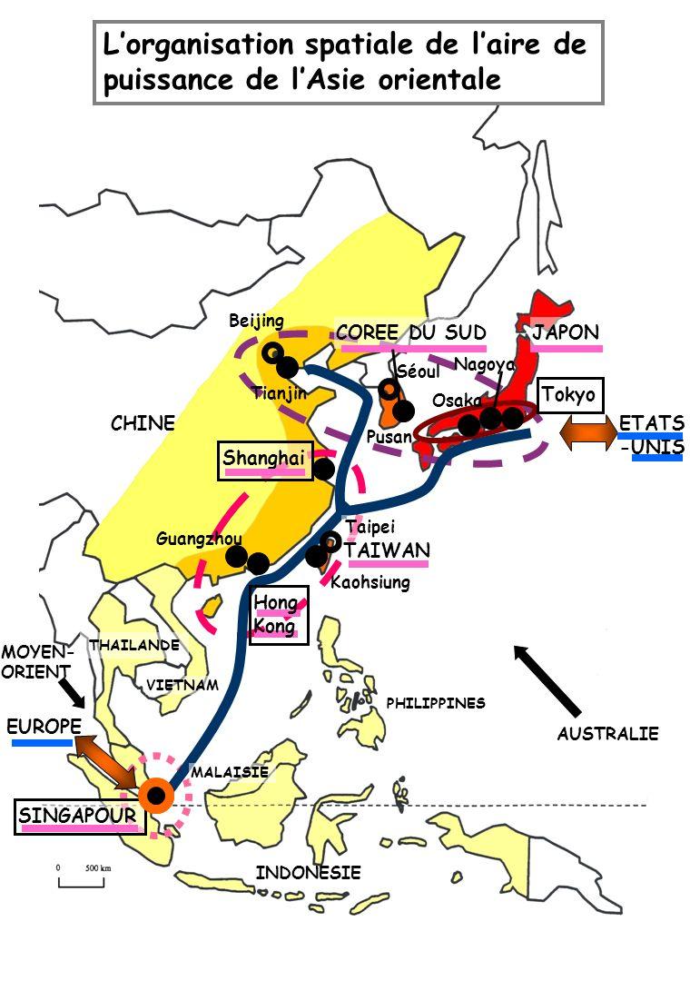 ETATS -UNIS EUROPE Shanghai Hong Kong JAPONCOREE DU SUD TAIWAN SINGAPOUR Tokyo Beijing Séoul Taipei Tianjin Nagoya Osaka Pusan Guangzhou Kaohsiung Lor