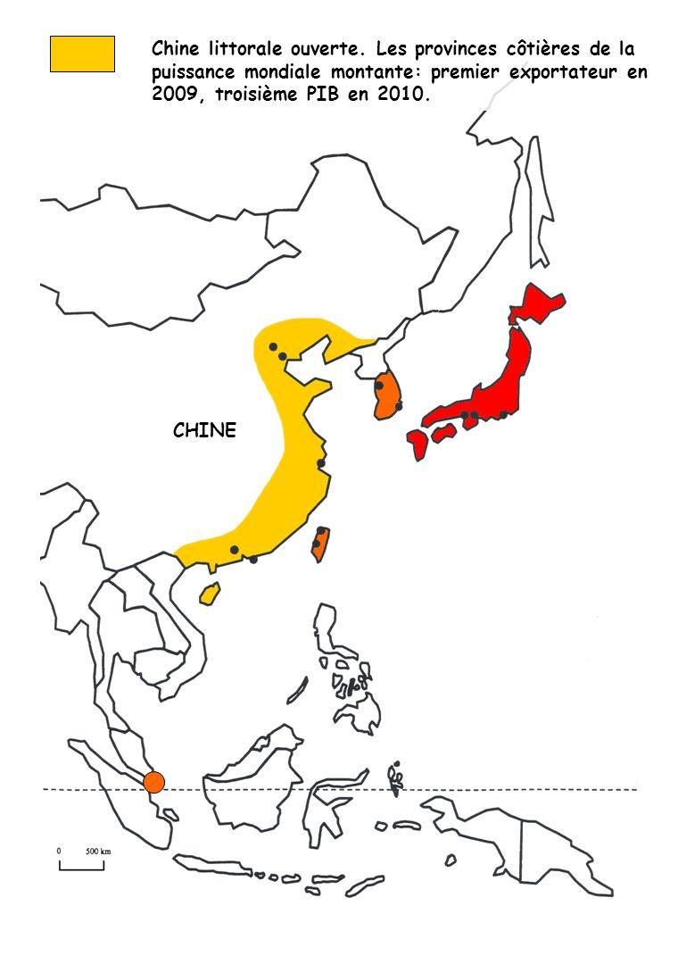 Chine littorale ouverte. Les provinces côtières de la puissance mondiale montante: premier exportateur en 2009, troisième PIB en 2010. CHINE