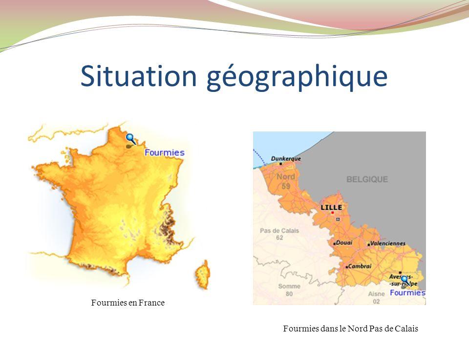 Situation géographique Fourmies en France Fourmies dans le Nord Pas de Calais