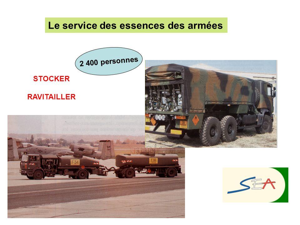 STOCKER RAVITAILLER Le service des essences des armées 2 400 personnes
