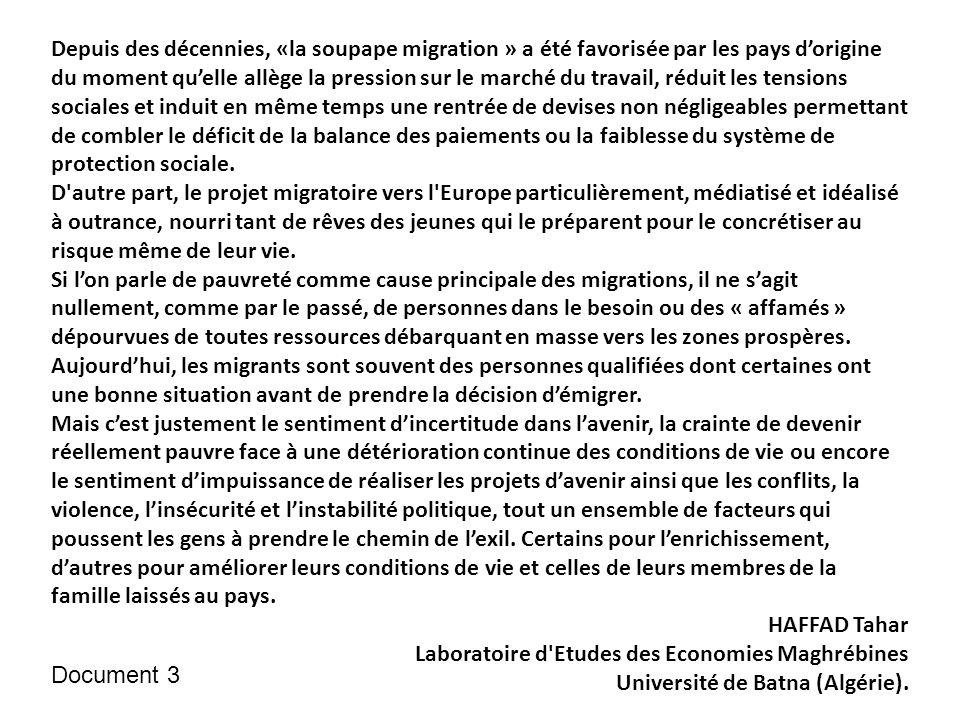 Source : Frontières, migrants et réfugiés, Philippe Rekacewicz, séminaires du Monde diplomatique Autres documents complémentaires