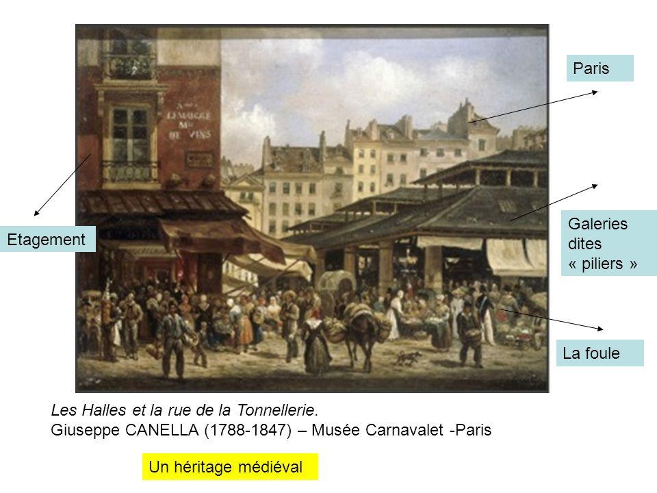 Les Halles et la rue de la Tonnellerie.