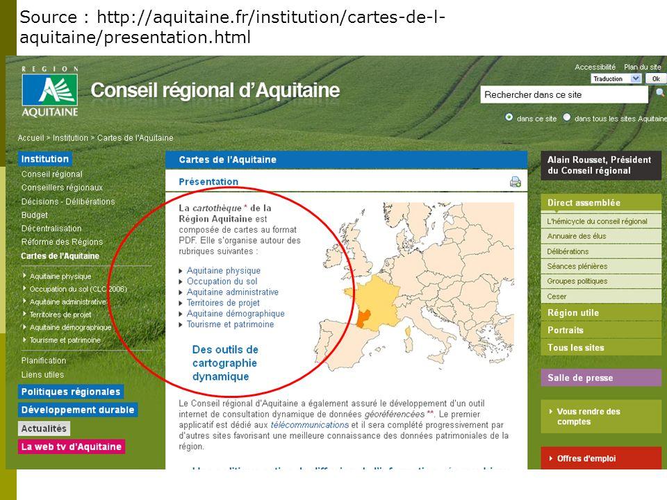 Source : http://aquitaine.fr/institution/cartes-de-l- aquitaine/presentation.html