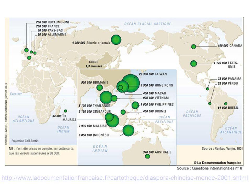 La diaspora chinoise : un fait géopolitique, économique et culturel Emmanuelle Bonerandi, Frédéric Dufaux In Géoconfluences : http://geoconfluences.ens- lyon.fr/doc/etpays/Chine/ChineScient.htm#diasporahttp://geoconfluences.ens- lyon.fr/doc/etpays/Chine/ChineScient.htm#diaspora