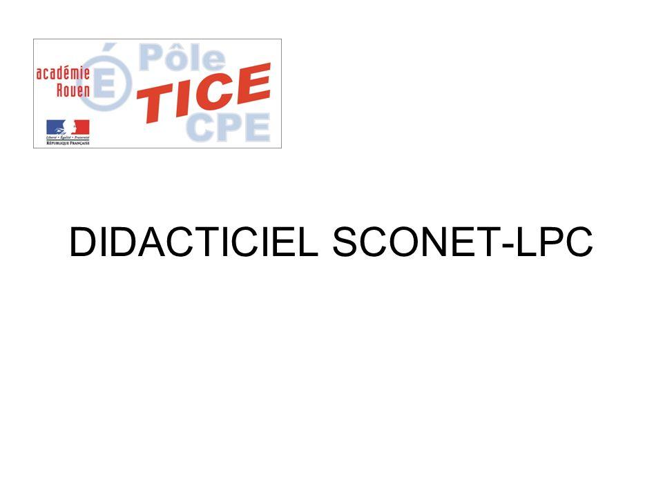 DIDACTICIEL SCONET-LPC