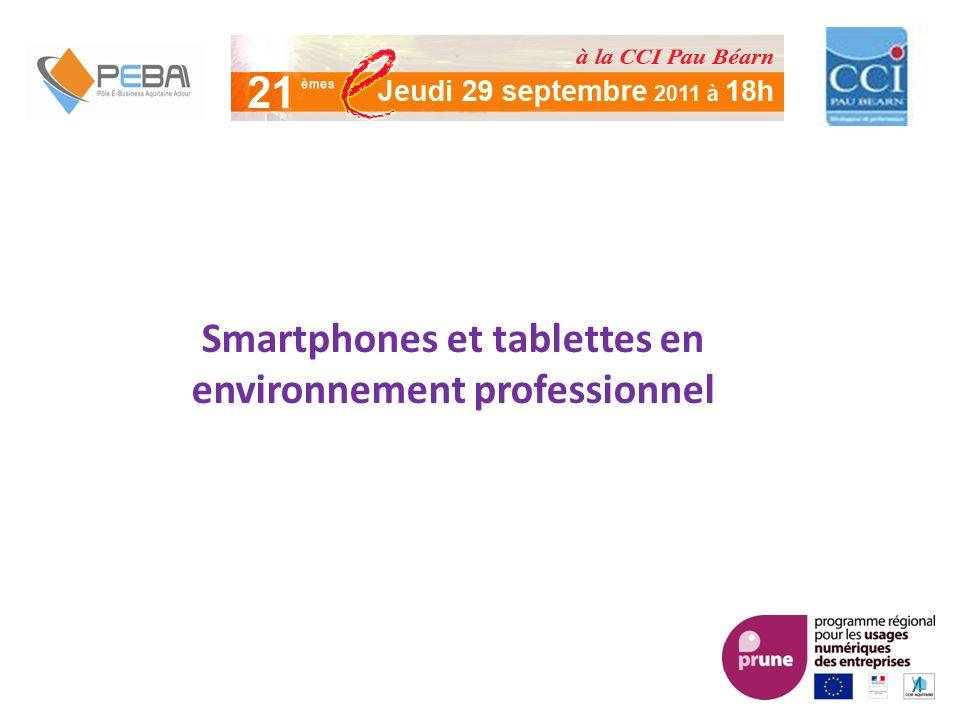 Smartphones et tablettes en environnement professionnel
