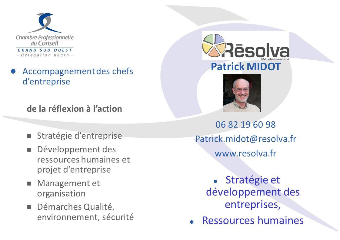 Accompagnement des chefs dentreprise de la réflexion à laction Stratégie dentreprise Développement des ressources humaines et projet dentreprise Manag