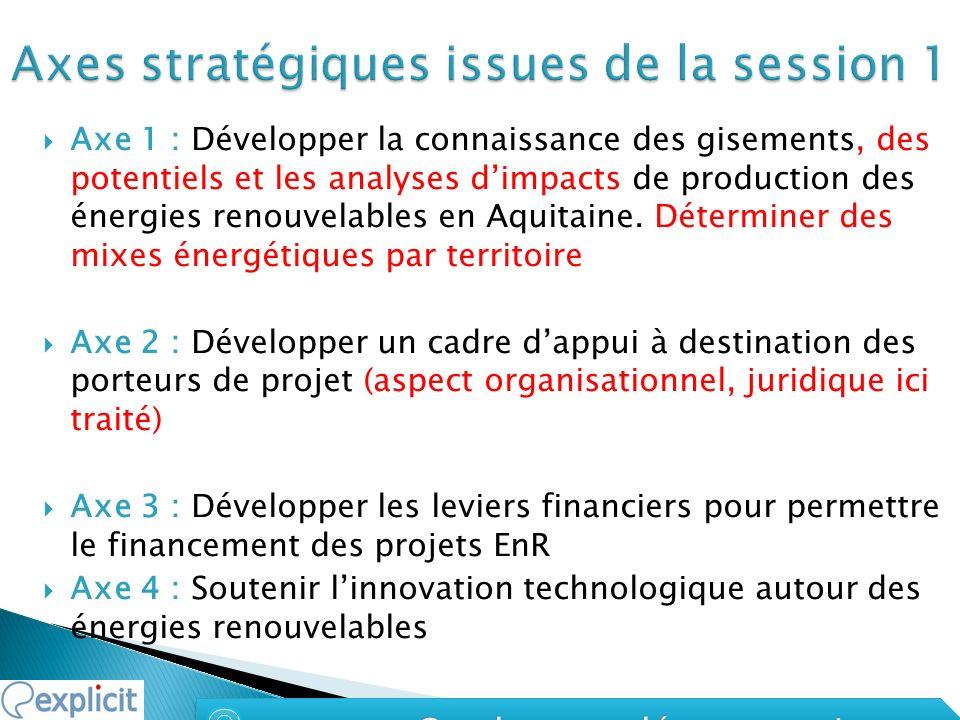 Axe 1 : Développer la connaissance des gisements, des potentiels et les analyses dimpacts de production des énergies renouvelables en Aquitaine.