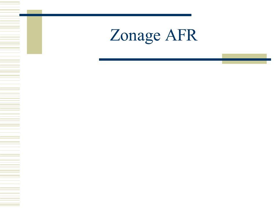 Zonage AFR
