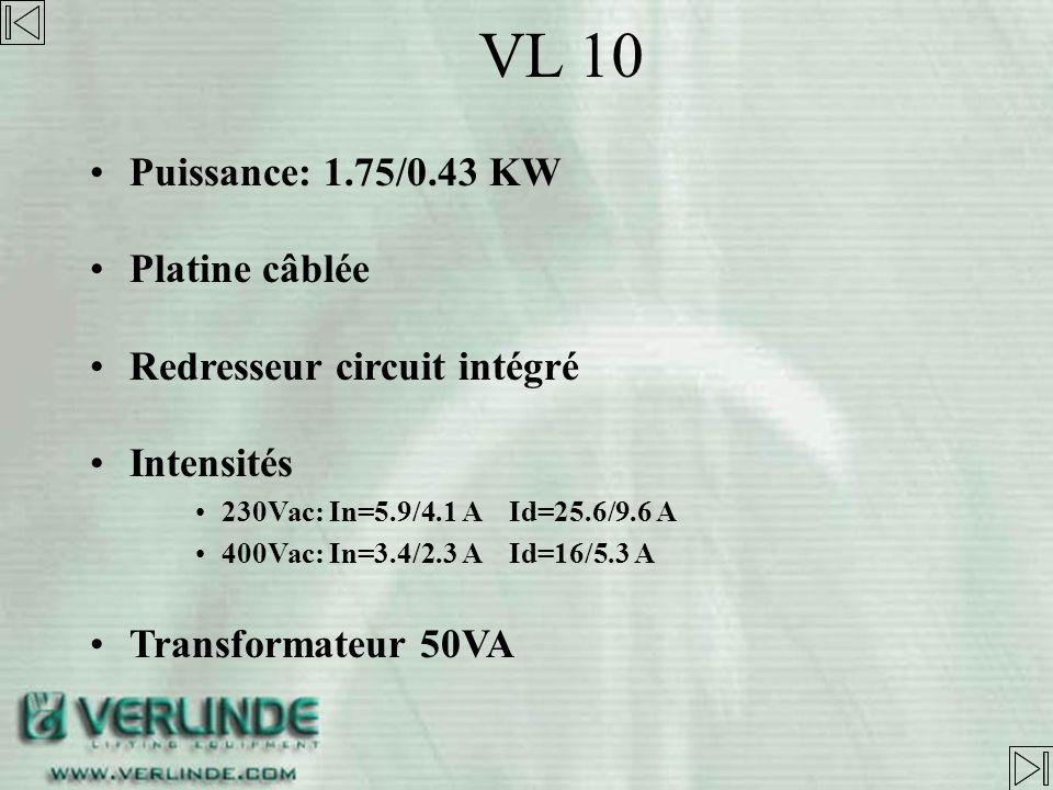 Capacité: 500 à 2000kg Chaîne 6.8x17.8 Bac à chaîne: plastique jusquà 8m, en tissu au-dessus VL10