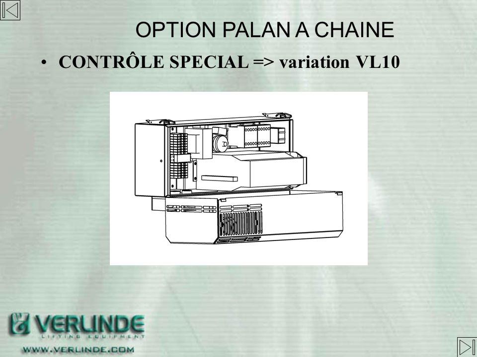 CONTROLE SPECIAL => variation de vitesse VL10 –Inclus Variateur VLh002 Coffret métallique Roulement codeur avec système de supervision Résistance de f
