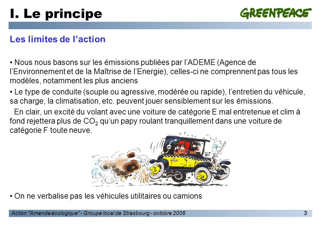 Action Amende écologique - Groupe local de Strasbourg - octobre 20064 I.