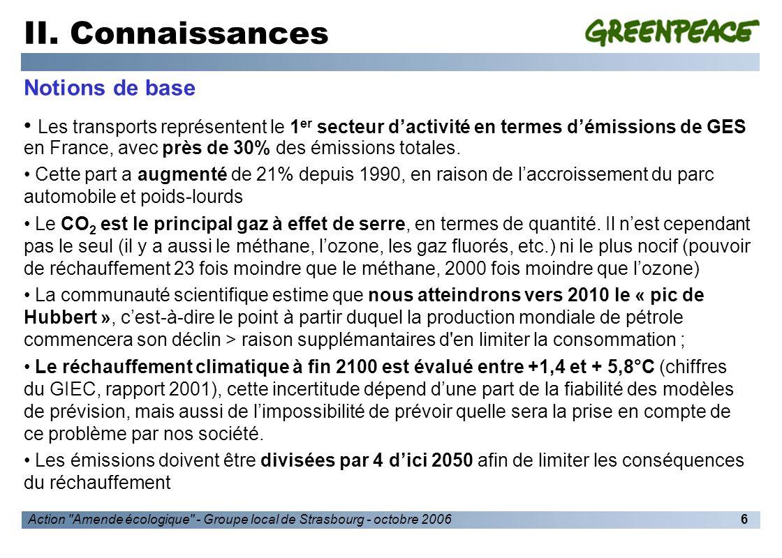 Action Amende écologique - Groupe local de Strasbourg - octobre 20067 II.