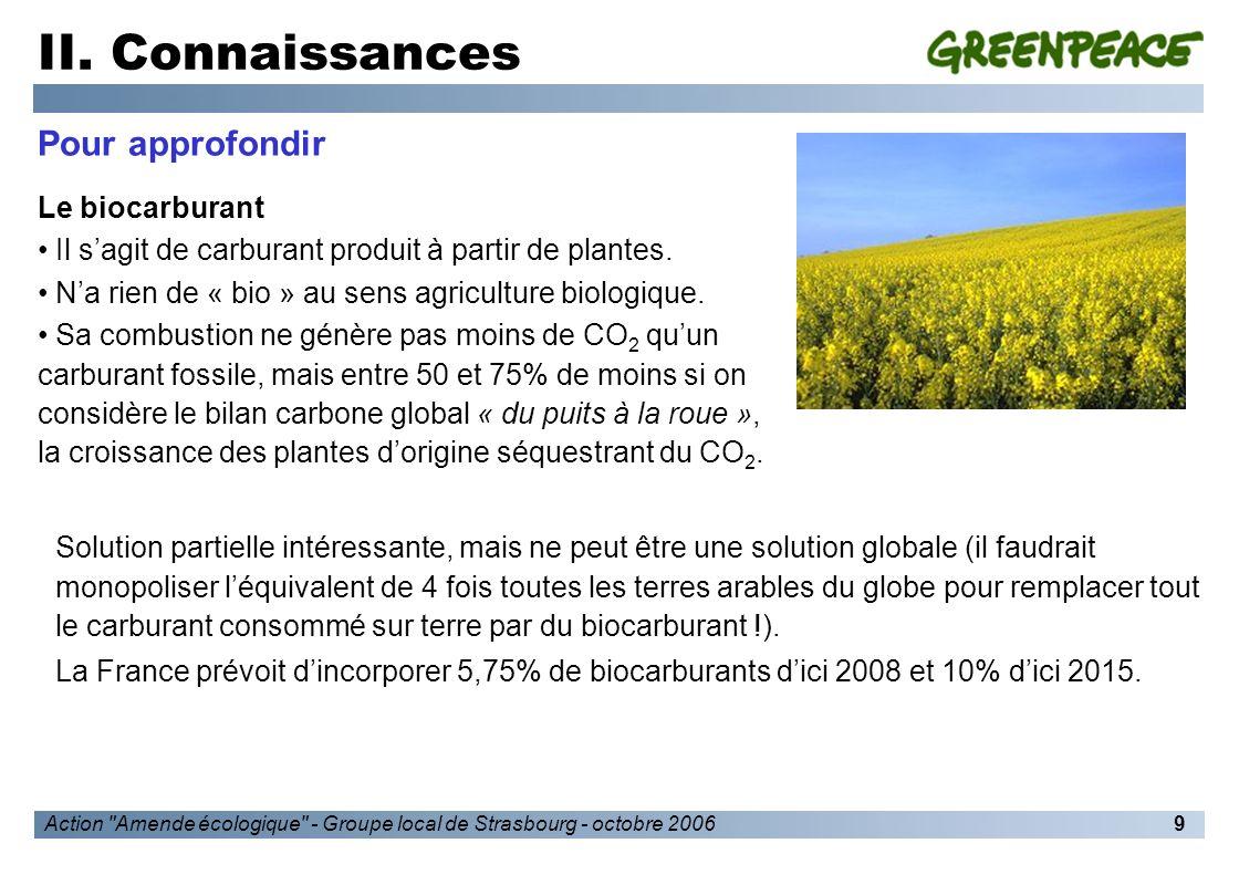 Action Amende écologique - Groupe local de Strasbourg - octobre 200610 II.