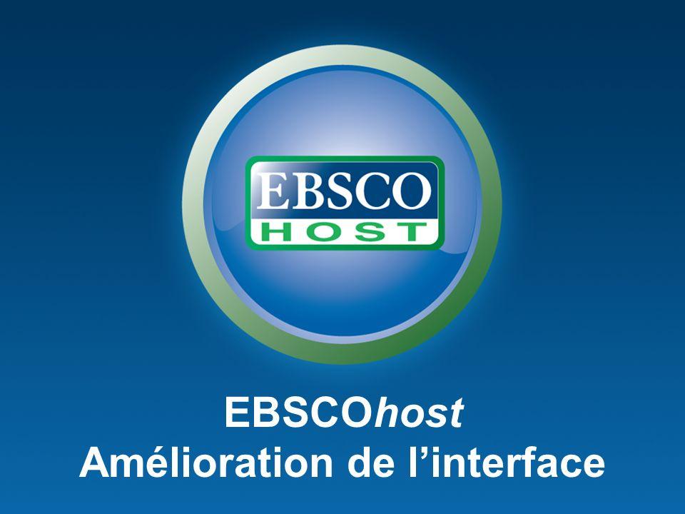EBSCOhost Amélioration de linterface