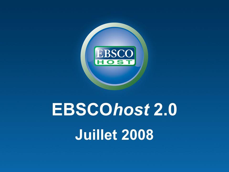 EBSCOhost 2.0 Juillet 2008