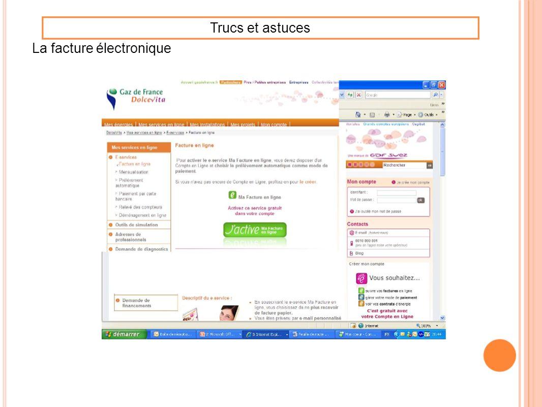 La facture électronique Trucs et astuces