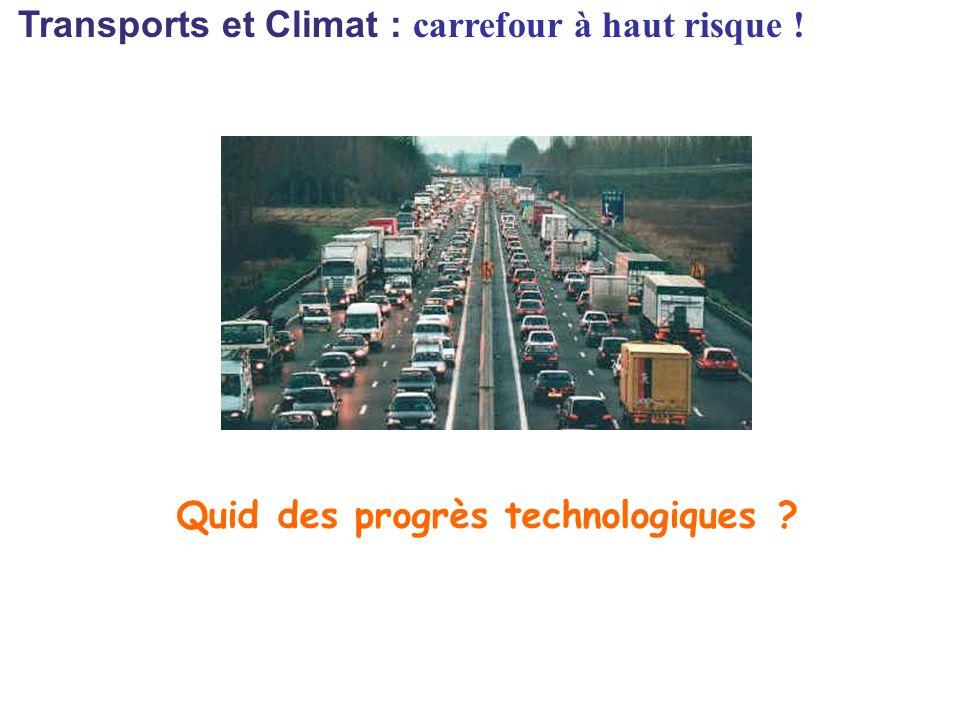 Transports et Climat : carrefour à haut risque ! Quid des progrès technologiques ?