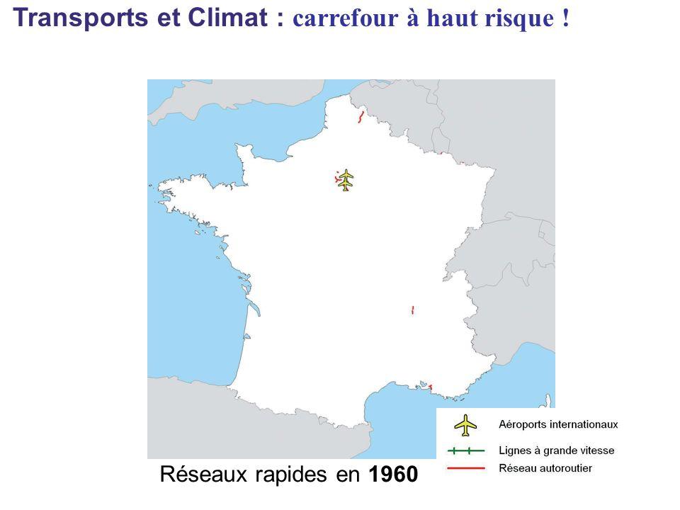 Réseaux rapides en 1960 Transports et Climat : carrefour à haut risque !