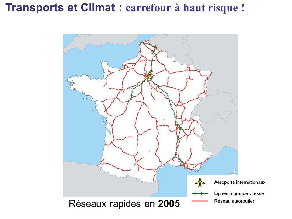 Réseaux rapides en 2005 Transports et Climat : carrefour à haut risque !