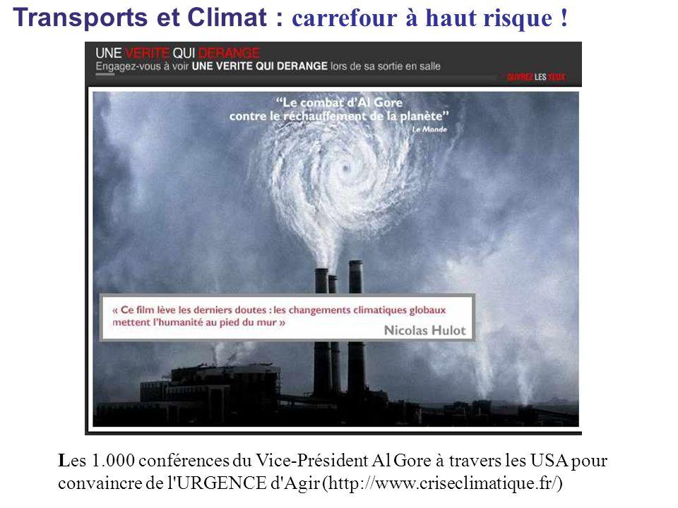Transports et Climat : carrefour à haut risque .