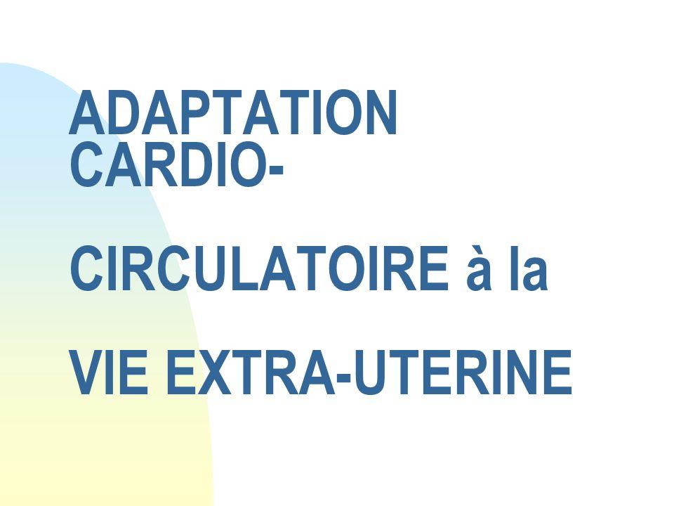 ADAPTATION CARDIO- CIRCULATOIRE à la VIE EXTRA-UTERINE