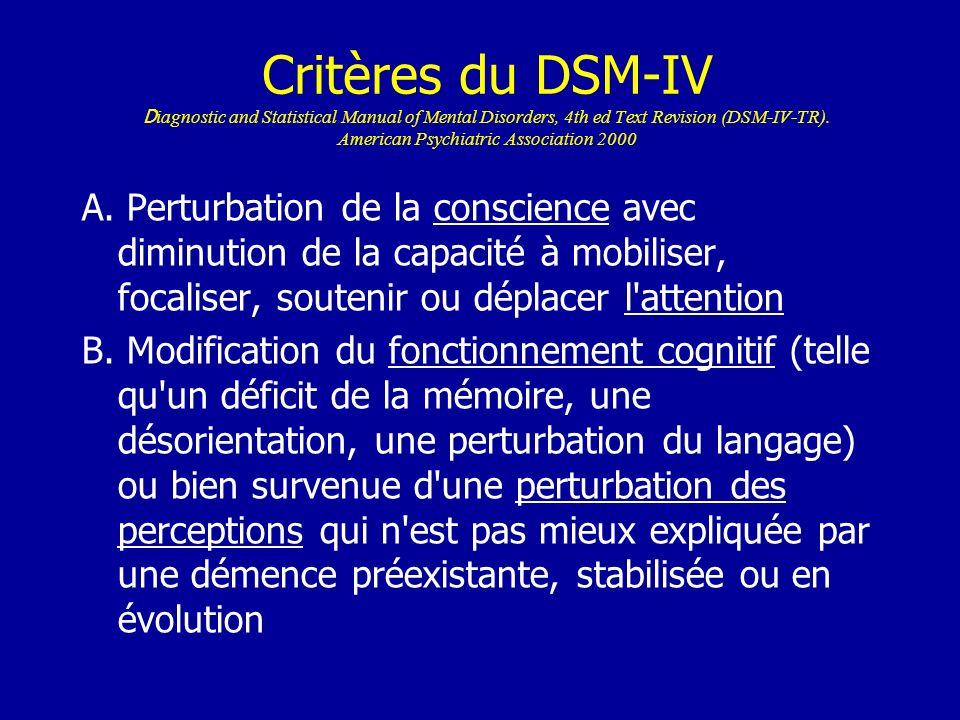Critères du DSM-IV C.