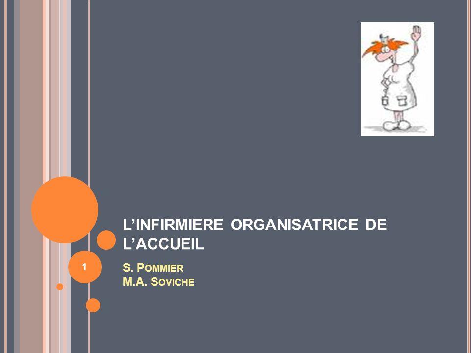LINFIRMIERE ORGANISATRICE DE LACCUEIL S. P OMMIER M.A. S OVICHE 1