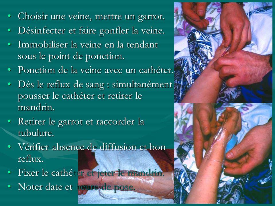 IFSI NDBS Sept 2004 Choisir une veine, mettre un garrot.Choisir une veine, mettre un garrot. Désinfecter et faire gonfler la veine.Désinfecter et fair
