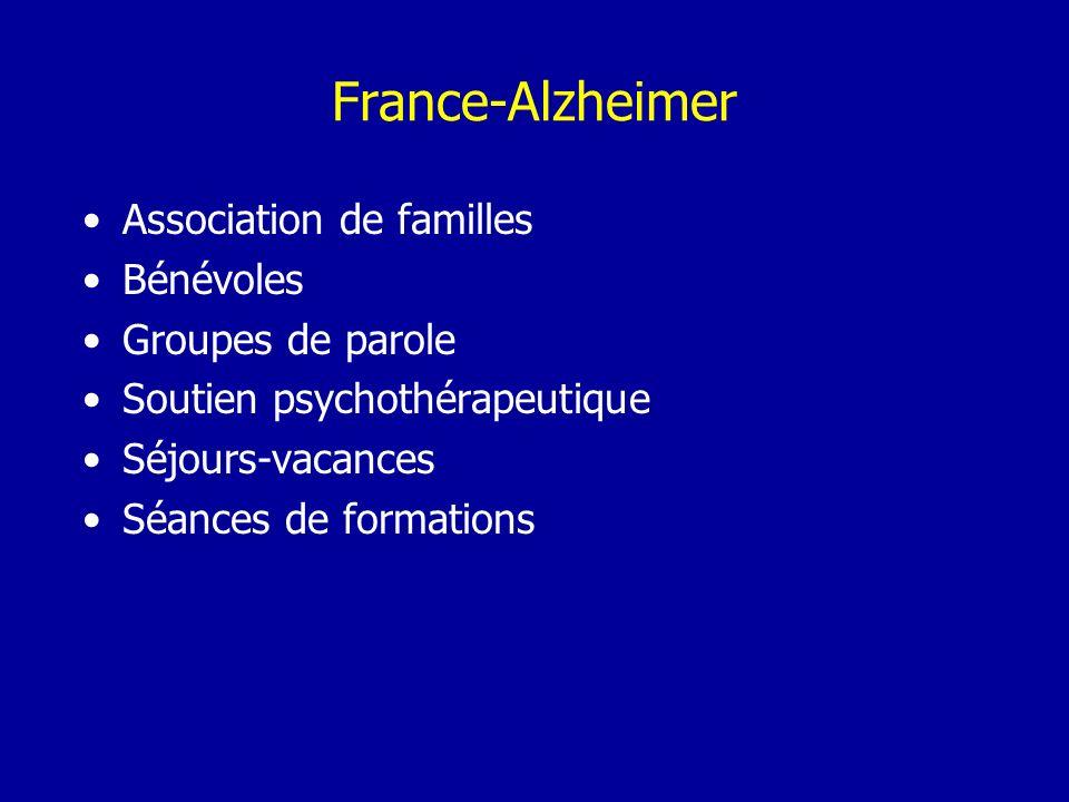 Association de familles Bénévoles Groupes de parole Soutien psychothérapeutique Séjours-vacances Séances de formations