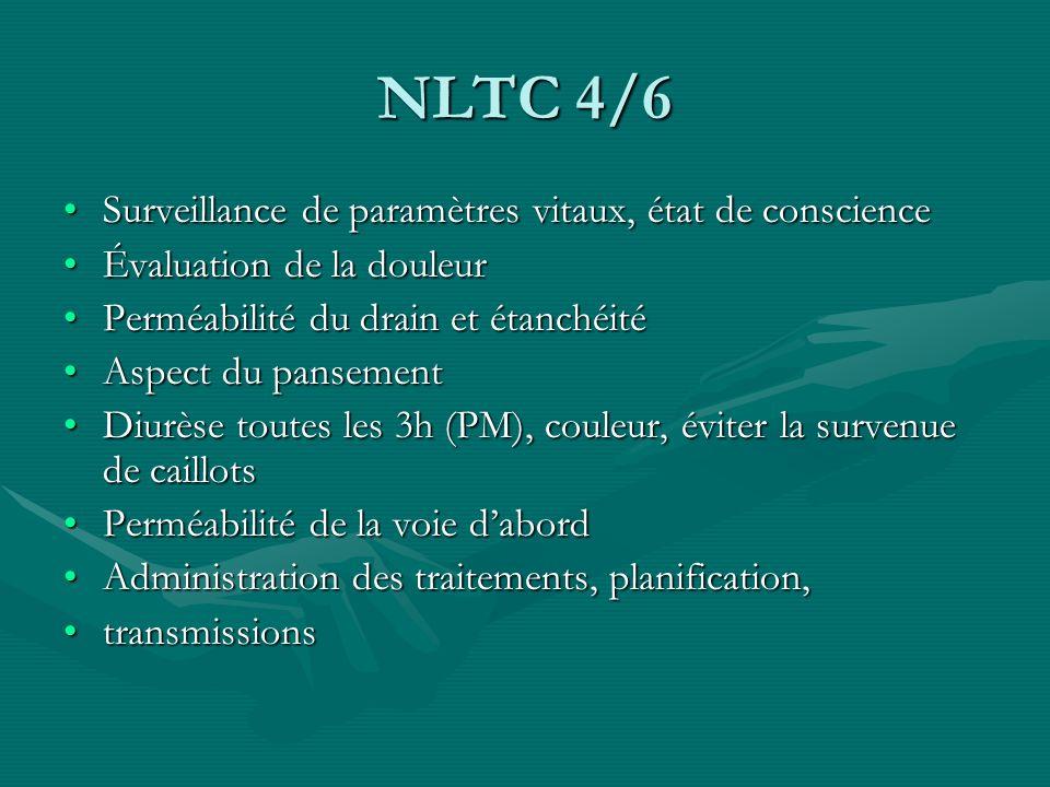 NLTC 4/6 Surveillance de paramètres vitaux, état de conscienceSurveillance de paramètres vitaux, état de conscience Évaluation de la douleurÉvaluation