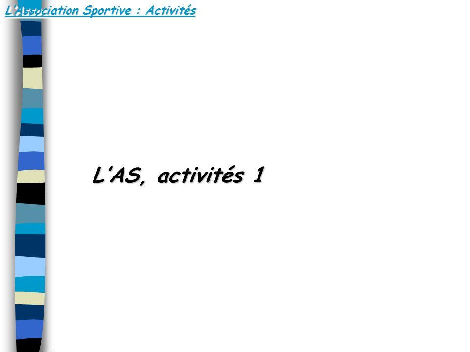 LAssociation Sportive : Activités LAS, activités 1 LAS, activités 1