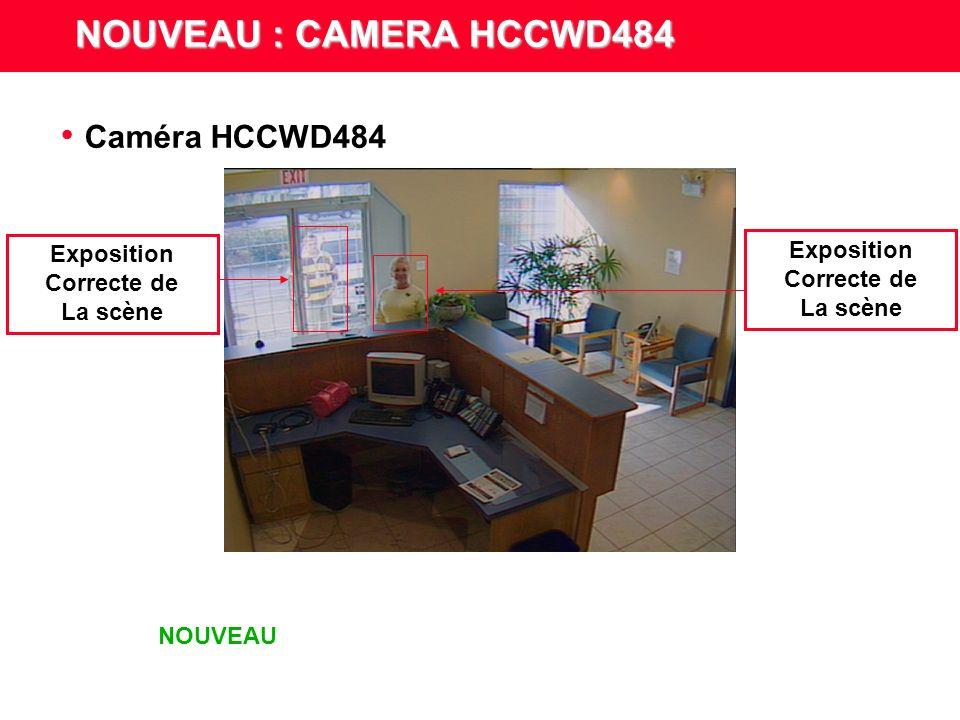 Caméra CCD NOUVEAU : CAMERA HCCWD484 Sur exposition De la scène Exposition Correcte de La scène NOUVEAU