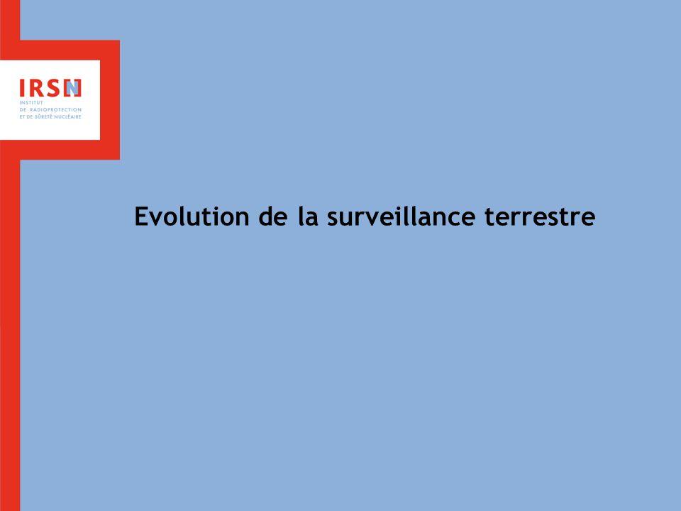 Evolution de la surveillance terrestre