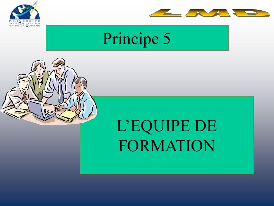 Principe 5 LEQUIPE DE FORMATION