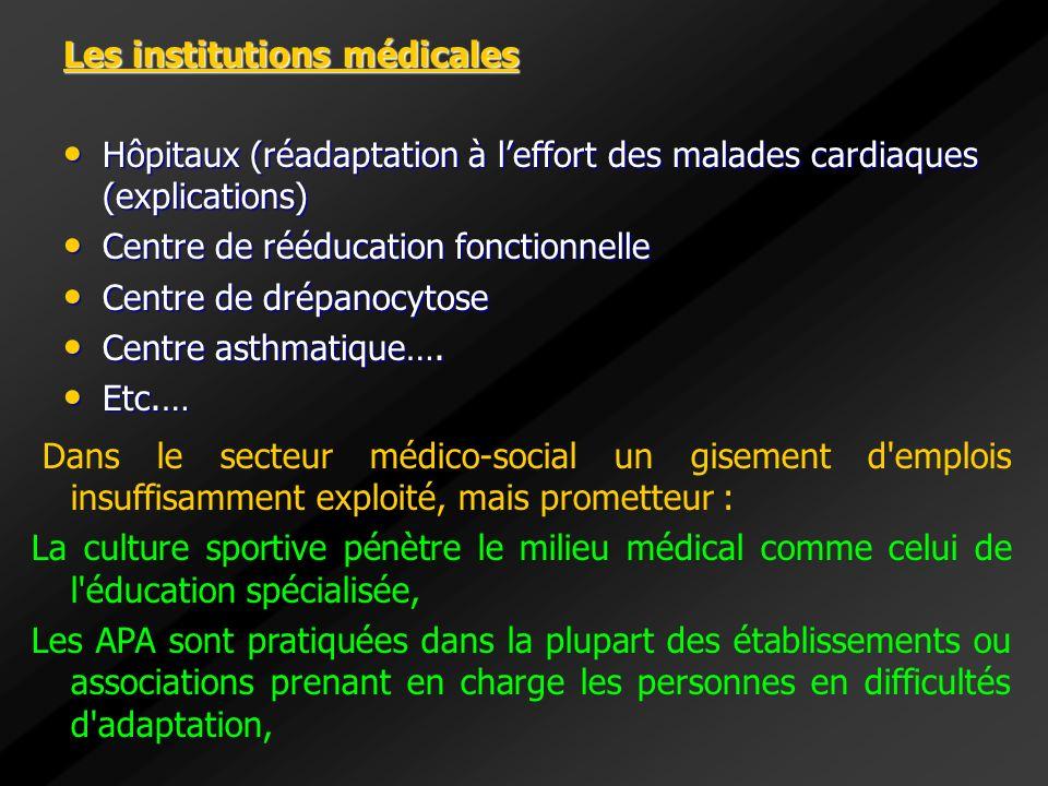 Les institutions médicales Hôpitaux (réadaptation à leffort des malades cardiaques (explications) Hôpitaux (réadaptation à leffort des malades cardiaq
