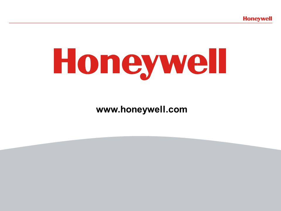 48Honeywell Confidential File Number- 48 www.honeywell.com