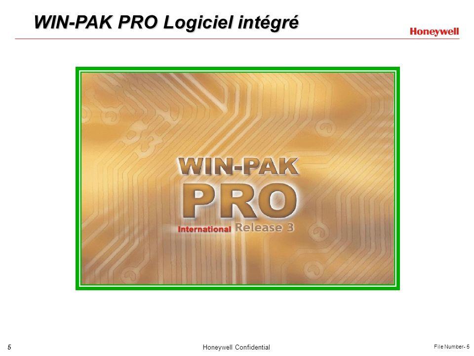 5Honeywell Confidential File Number- 5 WIN-PAK PRO Logiciel intégré