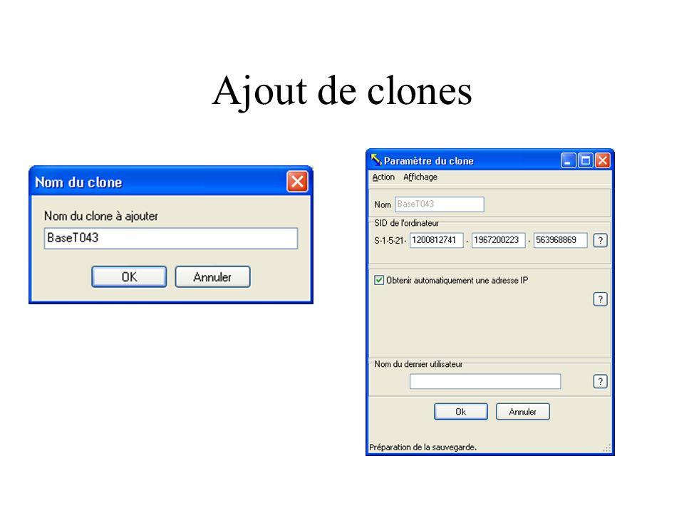 Ajout de clones