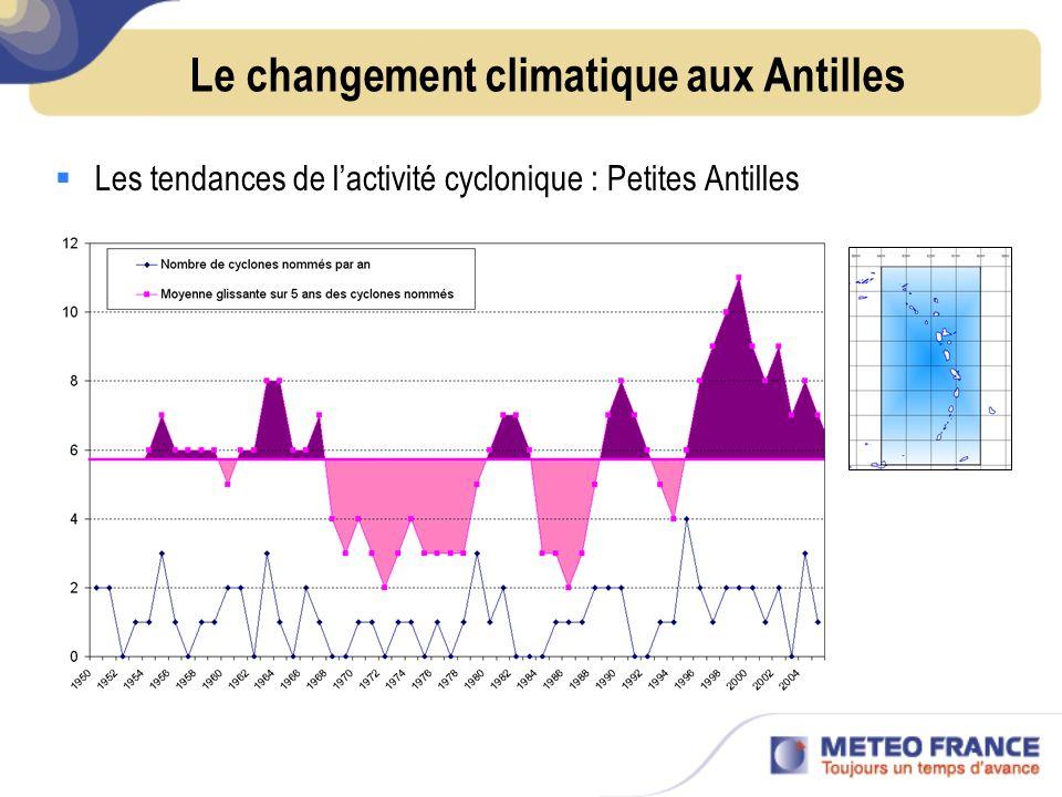 VARIATIONS RECENTES DE LACTIVITE CYCLONIQUE : Le biais climatologique Létude de la variabilité interannuelle à multidécennale est difficile à cause de la période relativement courte pour laquelle des données fiables sont disponibles : >1850 : Observations sur terre et par des navires >1945 : Réseau de radiosondages & reconnaissances aériennes Atlantique N & Pacifique NW jusquà1987 >1965 : Satellites météo.