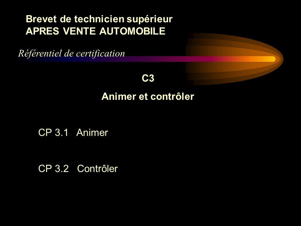 Brevet de technicien supérieur APRES VENTE AUTOMOBILE C2 Communiquer, s'informer CP 2.1 Communiquer et négocier dans l'environnement professionnel CP